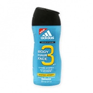 Adidas Shower Gel - Water Sport 3 in 1 Face, Hair & Body 250ml