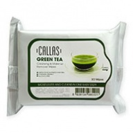 Callas Green Tea Cleansing and Make Up Remover Wipes 30s