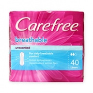 Carefree Pantyliners -  Breathable Unscented 40s