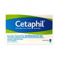 Cetaphil Soap Bar - Gentle Cleansing Anti Bacterial Bar for Dry and Sensitive Skin 127g