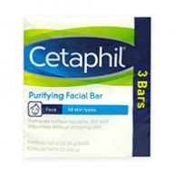 Cetaphil Soap Bar - Purifying Facial Bar - Removes Dirt, Impurities and Bacteria 85g x 3