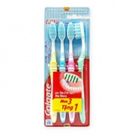 Colgate Toothbrush - Extra Clean - Reaches Back Teeth  4s