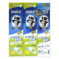 Darlie All Shiny White Lime Mint Toothpaste 2x140g+90g