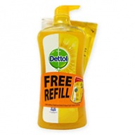 Dettol Shower Gel + Refill - Fresh Anti Bacterial 950ml + 250ml
