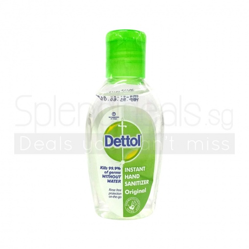 Dettol Hand Sanitizer - Original Instant - Kills 99.9% of Germs 50ml