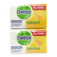 Dettol Body Soap - Fresh Antiseptic (110gx4)