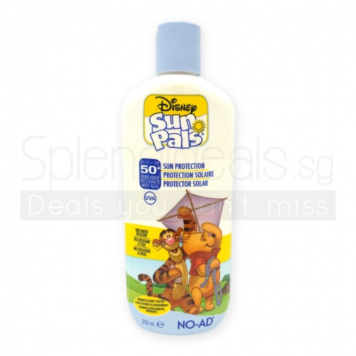 Disney SunPals Pooh Bear SPF 50+ Water Resist Sun Protection Cream 250ml