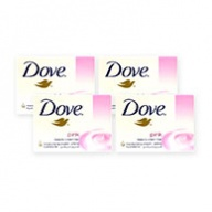 Dove Soap Bar - Pink Beauty with Moisturising Cream 100g x 4