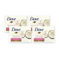 Dove Soap Bar - Purely Pampering Coconut Milk Beauty Cream 100g x 4s