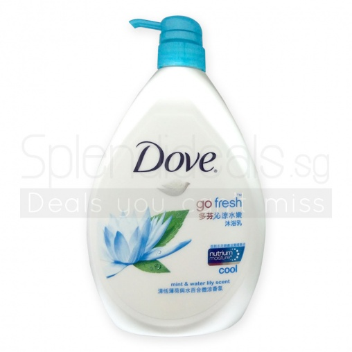 Dove Body Wash - Go Fresh Cool W/Mint & Water Lily 1000ml
