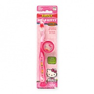 Fun Characters Toothbrush - Hello Kitty Soft Souple with Cap for Ages 3+  1s