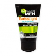 Garnier MEN Turbo Light Oil Control Anti-Impurities Charcoal Cleanser 100ml