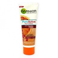 Garnier Cleanser - Pure Active Fruit Energy Skin Energising Foam 100ml