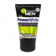 Garnier MEN Facial Scrub - Power White Anti Dark Spot & Pollution Whitening 100ml