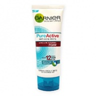 Garnier Cleanser - Pure Active Anti Acne White Foam 100ml