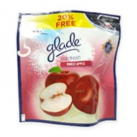 Glade Car Fresh Sweet Apple Air Freshener 70g +15g