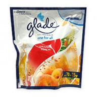 Glade Car Fresh Orange Peach Air Freshener 70g +15g