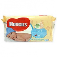 Huggies Pure Baby Wipes for All Skin & Sensitive Skin Types  56 wipes