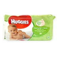 Huggies Natural Care Baby Wipes With Aloe Vera & Vitamin E 56 wipes