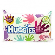 Huggies Gentle Cleaning Baby Wipes with Cucumber Fragrance 64 Wipes