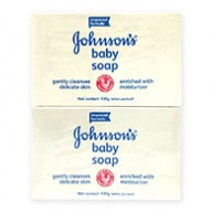 Johnsons Baby Soap - White with Moisturisers 100g x 4