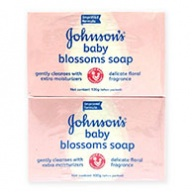 Johnsons Baby Soap - Blossom with Lotion & Floral Fragrance 100g x 4