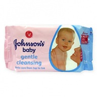 Johnsons Baby Wipes - Gentle Cleansing 56s (UK)
