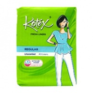 Kotex Pantyliners - Breathable Regular Fresh Unscented 40s