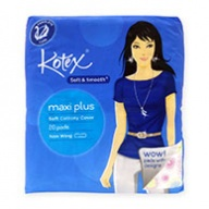 Kotex Sanitary Pads - Soft & Smooth Maxi Plus Non Wing 20s