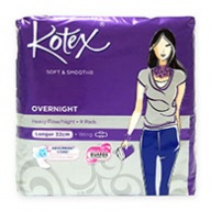 Kotex Sanitary Pads - Soft and Smooth Overnight Wing 32cm Heavy Flow 9s