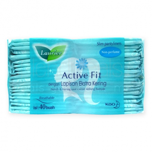 Laurier Pantyliners - Active Fit Breathable Slim Non Perfume 40s