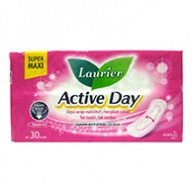 Laurier Sanitary Pads - Soft Care Active Day Super Maxi Non Wing 30s