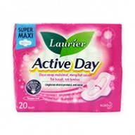 Laurier Sanitary Pads - Soft Care Active Day Super Maxi Wing 20s