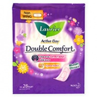 Laurier Sanitary Pads - Double Comfort Active Day Non Wing 28s