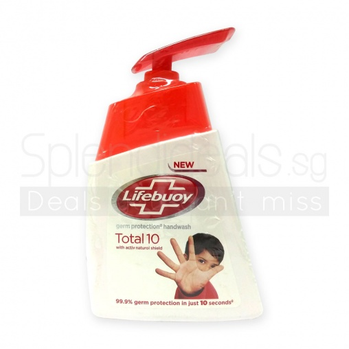 Lifebuoy Hand Wash - Total 10 Germ Protection w/Activ Natural Shield 215ml