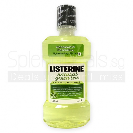 Listerine Natural Green Tea Antiseptic Mouthwash 750ml