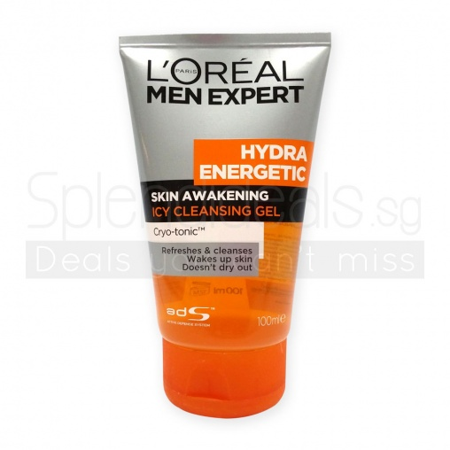 Loreal MEN Expert Hydra Energetic Skin Awakening Icy Cleansing Gel 100ml