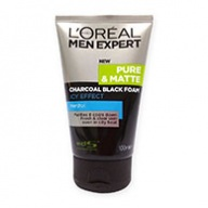 Loreal MEN Expert Pure and Matte Charcoal Black Foam Cleanser 100ml