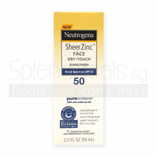 Neutrogena Sunscreen - Sheer Zinc Face Dry-Touch Broad Spectrum SPF 50 59ml