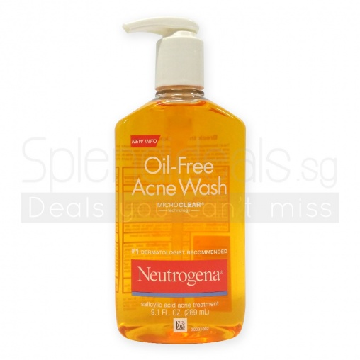 Neutrogena Pump Cleanser - Oil Free Acne Wash with Micro Clear Technology 269ml