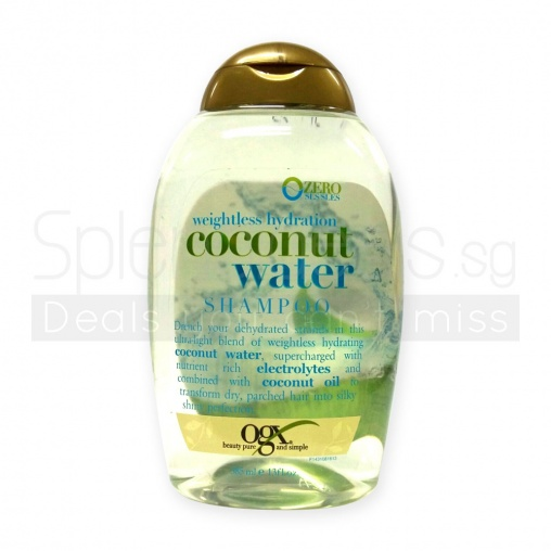 OGX Weightless Hydration Coconut Water Shampoo 385ml