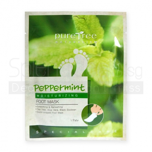 PureTree Peppermint Moisturizing Foot Mask 2s