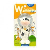 Pearlie White Brush Care - Extra Soft Bristles for Kids - 3 Yrs + Cow Design