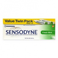 Sensodyne Fresh Mint Toothpaste for Sensitive Teeth Twin Pack 100g x 2