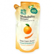 Shokubutsu Monogatari Orange Peel Oil Shower Cream Refill 500ml