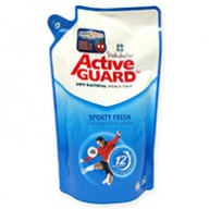 Shokubutsu Active Guard Sporty Fresh Anti-Bac Shower Foam Refill 550g