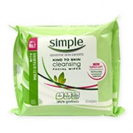 Simple Facial Cleansing Wipes - Original 25 Wipes