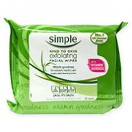 Simple Facial Cleansing Wipes - Exfoliating With Vitamin 25 wipes