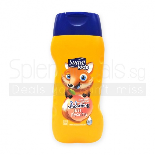 Suave Kids Peach 2 in 1 Smoothers Shampoo & Conditioner 355ml
