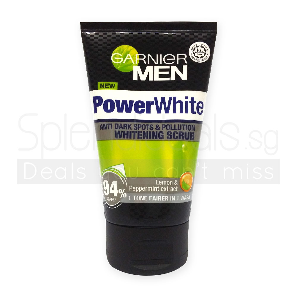 17ba61d615 Garnier MEN Facial Scrub - Power White Anti Dark Spot & Pollution Whitening  100ml